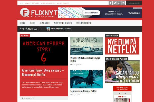 Dynamisk forside på WordPress - Flixnyt
